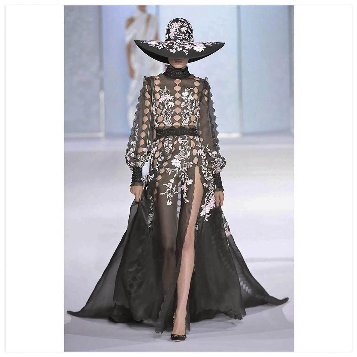 Ralph & Russo Haute-Couture Défilé 2016 Peinture au pincea