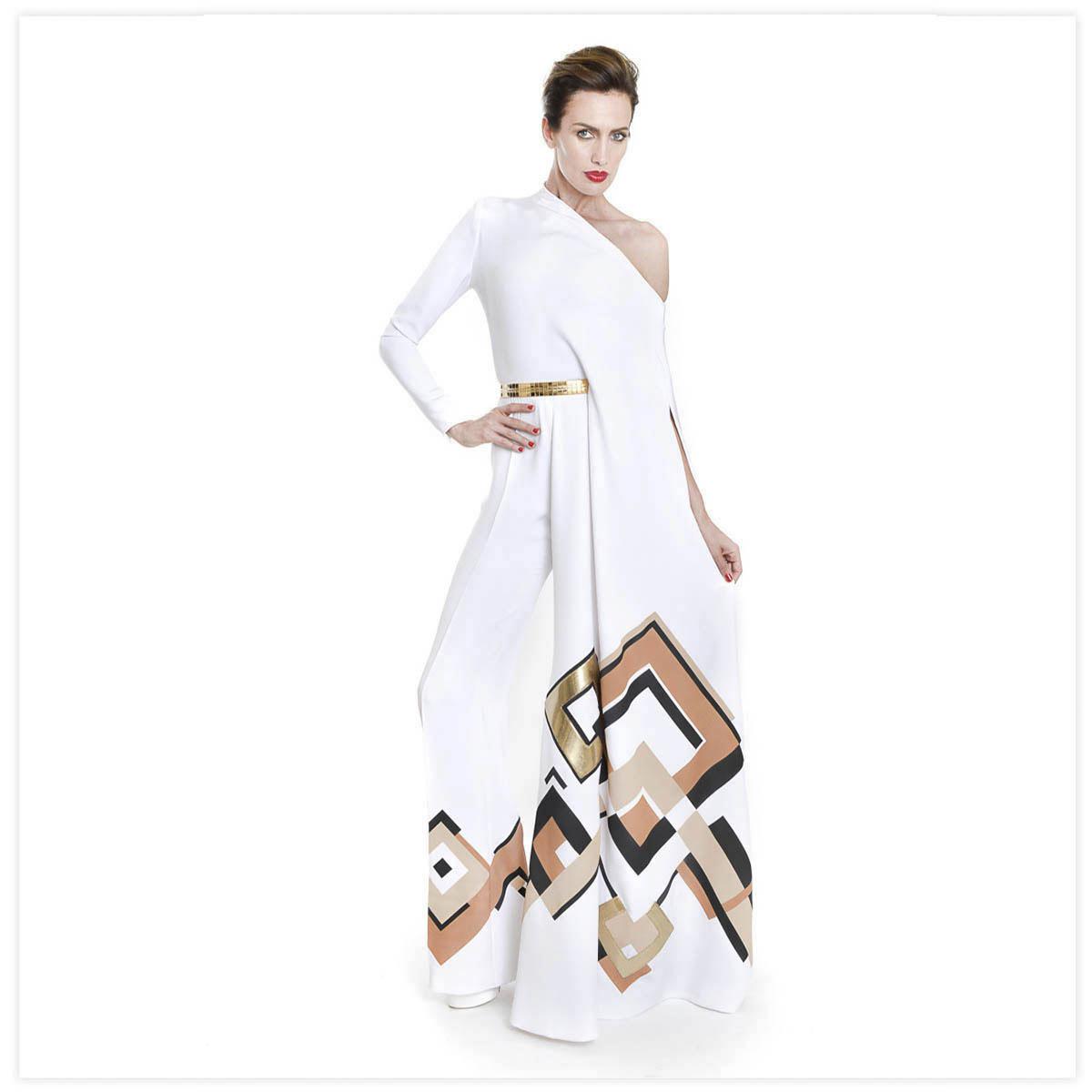 Stéphane Rolland Haute-Couture Défilé 2015 Aérographe sur tissu à plat