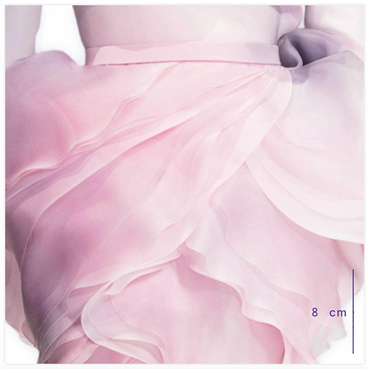 Ralph & Russo Haute-Couture Défilé 2015 Aérographe sur tissu à plat(gros plan)