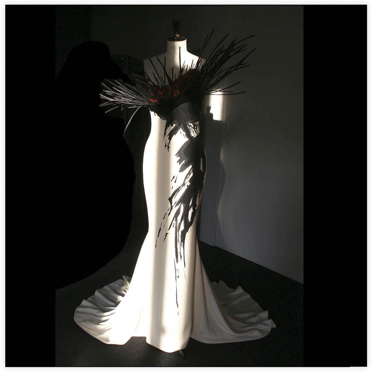 Stéphane Rolland Haute-Couture Défilé 2014 Aérographe et flocage