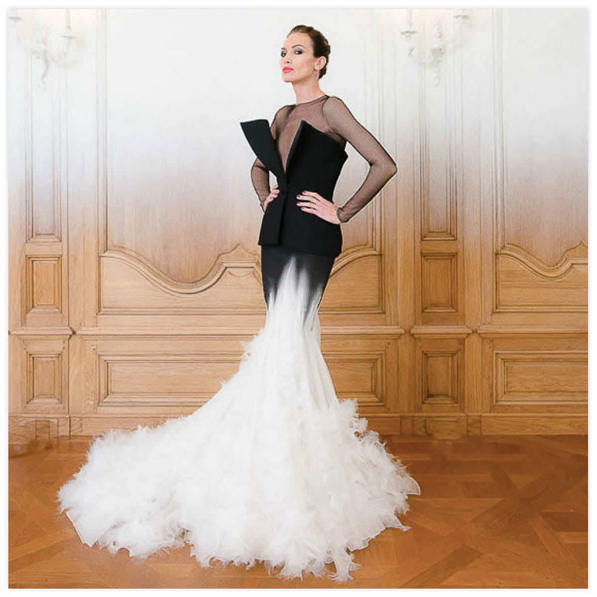 Stéphane Rolland Haute-Couture Défilé 2014 Aérographe